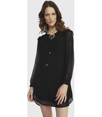 vestido ash  lunares negro - calce regular