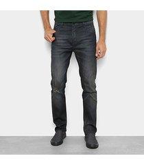 calça jeans slim ellus lisa básica masculina