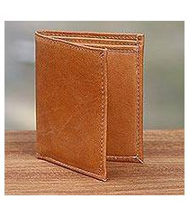 leather wallet, 'esquire in brown' (indonesia)