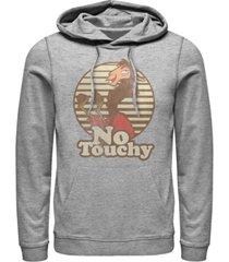 disney men's emperor's new groove kuzco llama no touchy, pullover hoodie