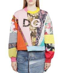 dolce & gabbana patchwork sweatshirt
