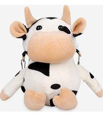 cute plush cow mini crossbody bag