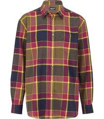 overhemd men plus rood::geel::olijf
