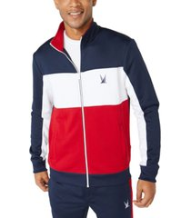 nautica men's classic-fit colorblocked track jacket