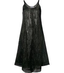 jil sander chunky knit dress - black