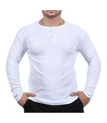 camiseta ramazzoni henley classic slim fit masculina