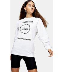 2nd life long sleeve skater t-shirt in white - white