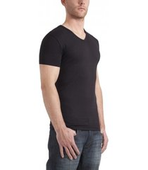 garage t-shirt v-neck bodyfit black stretch ( art 0202)