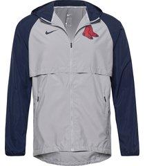 boston red sox nike mesh logo essential hooded jacket dun jack grijs nike fan gear
