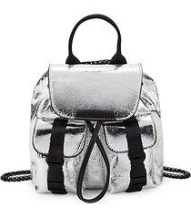 logo metallic backpack