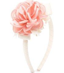 abel & lula flower applique headband - pink