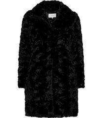 viseria coat/4 outerwear faux fur zwart vila