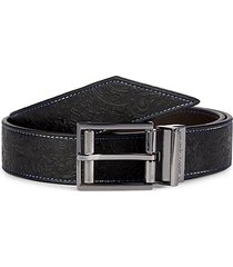 sequential reversible leather belt