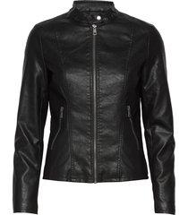 onlmelisa faux leather jacket cc otw läderjacka skinnjacka svart only
