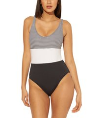 bleu by rod beattie tank one-piece swimsuit women's swimsuit