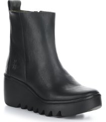 women's fly london bale platform bootie, size 5.5us - black