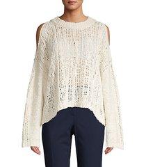 knit cotton blend sweater