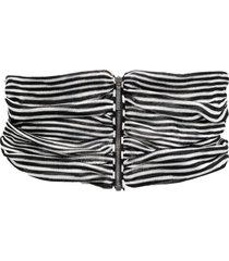 missoni striped zipped waist belt - black