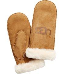 ugg shearling logo mittens