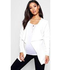 maternity waterfall jacket, ivory