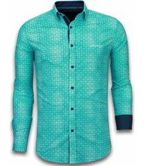overhemd lange mouw tony backer blouse flower icon pattern