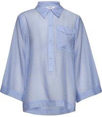 elba shirt blouse lange mouwen blauw lovechild 1979