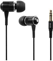 audífonos bluetooth, es-q3 universal 3.5mm atado con alambre estupendo bajo ruidoso volumen auricular interno (negro)