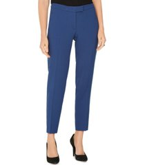 anne klein pinstriped tab-waist dress pants