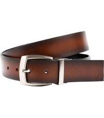 cinturón doble faz bernie de cuero para hombre