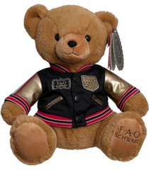fao schwarz toy plush anniversary bear 12inch with aviation jacket 2019