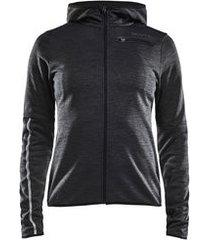 craft jas women eaze jersey hood black melange