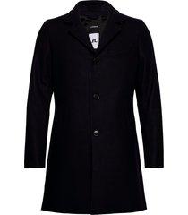 holger compact melton coat wollen jas lange jas blauw j. lindeberg