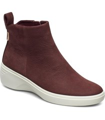soft 7 wedge w shoes boots ankle boots ankle boot - flat brun ecco