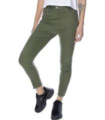 jeans color skinny verde mujer corona