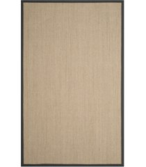safavieh natural fiber natural and dark gray 4' x 6' sisal weave rug