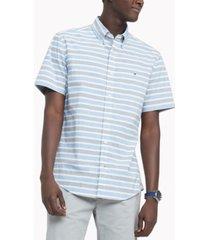 tommy hilfiger men's big & tall th flex stretch hill stripe poplin shirt