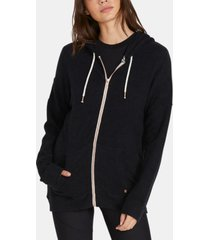 volcom juniors' lil zip fleece zip-up hoodie
