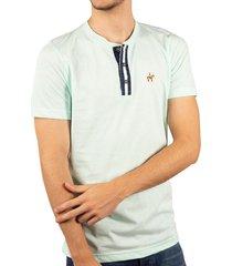 camiseta cuello henley verde menta ref. 107060819