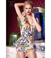 * chilirose waterval jurk in slangen print