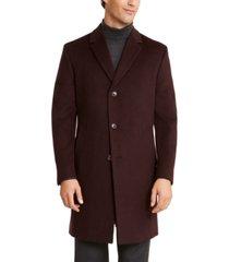kenneth cole reaction men's raburn slim-fit solid overcoat