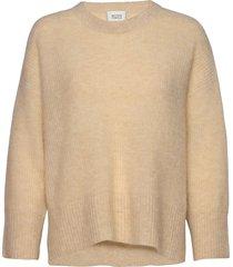 koorb knit o-neck gebreide trui beige second female