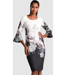 jurk alba moda wit::zwart::roze