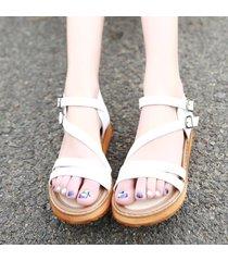 sandalias gruesas de gran tamaño roman muffin con fondo grueso para mujer