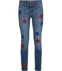 jeans skinny  corti con stelle (blu) - rainbow