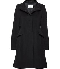 coat wool wollen jas lange jas zwart gerry weber edition
