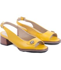 sandalia amarillo rosa maría jenny