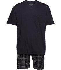pyjama short pyjamas svart schiesser