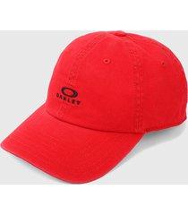 gorra rojo-negro oakley dad ellipse