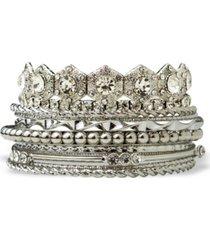 statement accessories retro stone bangle bracelet set