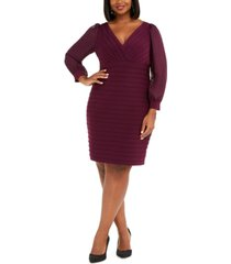 adrianna papell plus size bandage dress